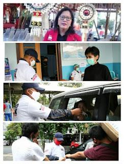 Milenial ODSK Bagikan Masker dan Hand Sanitizer