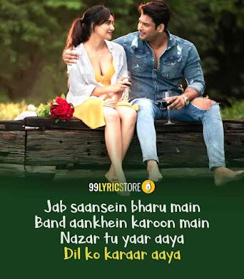 Dil Ko Karaar Aaya Song Imgae Features Sidharth Shukla and Neha Sharma