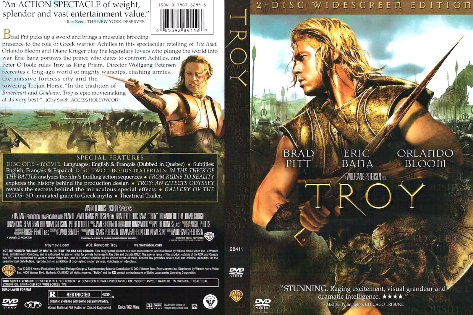 troy dvd italiano  Troy (2004)   Movie Poster and DVD Cover Art