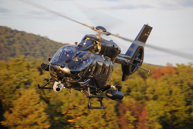 Airbus H145 launch rockets firing campaign