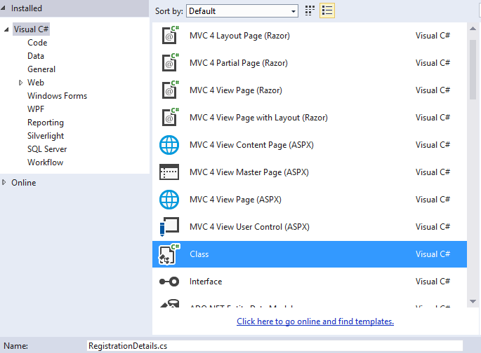 Create GridView using MVC and Razor