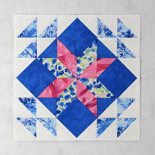 Diamond Star Quilt Block designed by Elaine Huff of Fabric406