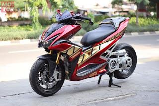 10+ Gambar Modifikasi Yamaha Aerox 155 memakai Monoshock
