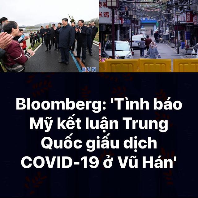 Bloomberg: Tinh báo Mỹ kết luận Trung Quốc giấu dịch Covid-19 ở Vũ Hán