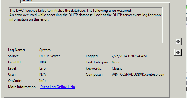 Extra Parts: Fixed: DHCP Server won't start with error