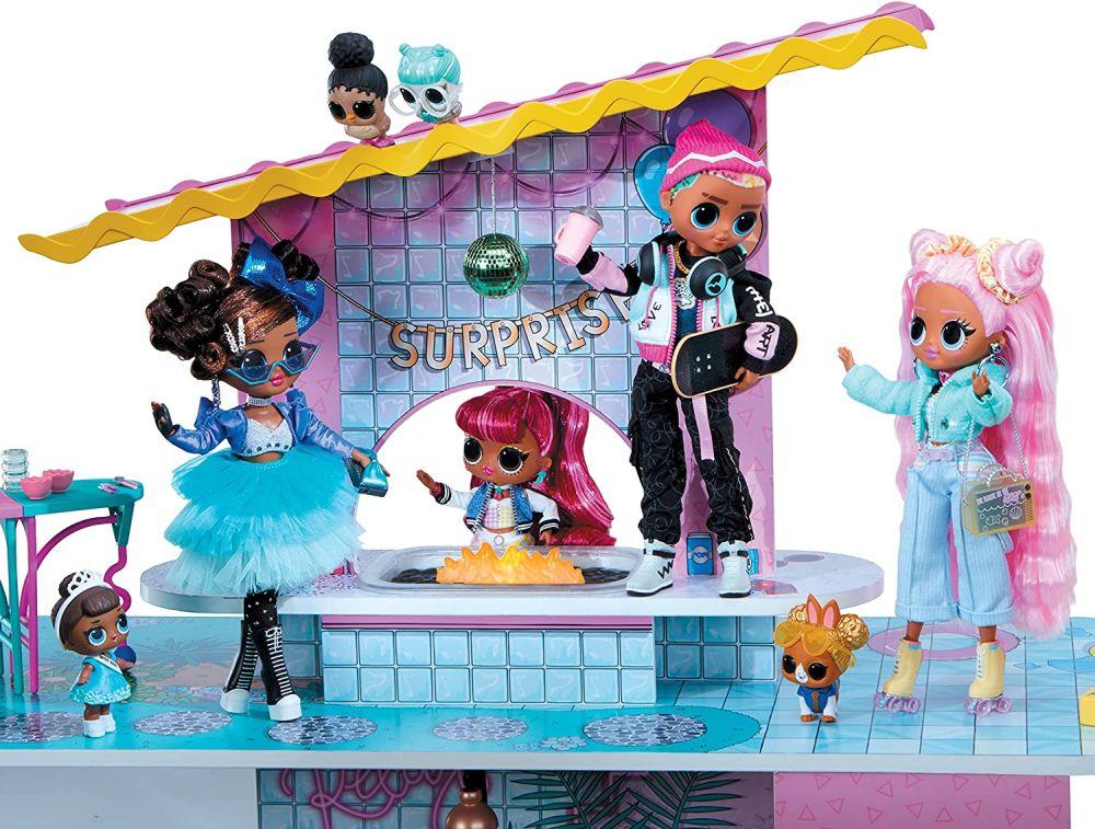 Вечеринка Лол Сюрприз на крыше кукольного домика