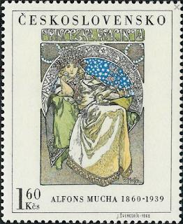 Mucha på frimærke