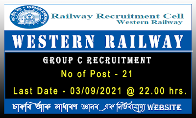 Western Railway Recruitment 2021- Group C for Sports Quota