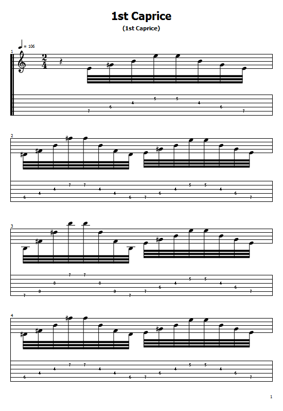 Caprice No. 1 Tabs Niccolo Paganini. How To Play Caprice No. 1 On Guitar Chords Free Tabs/ Sheet Music. Niccolo Paganini. Caprice No. 1, Solo Violin