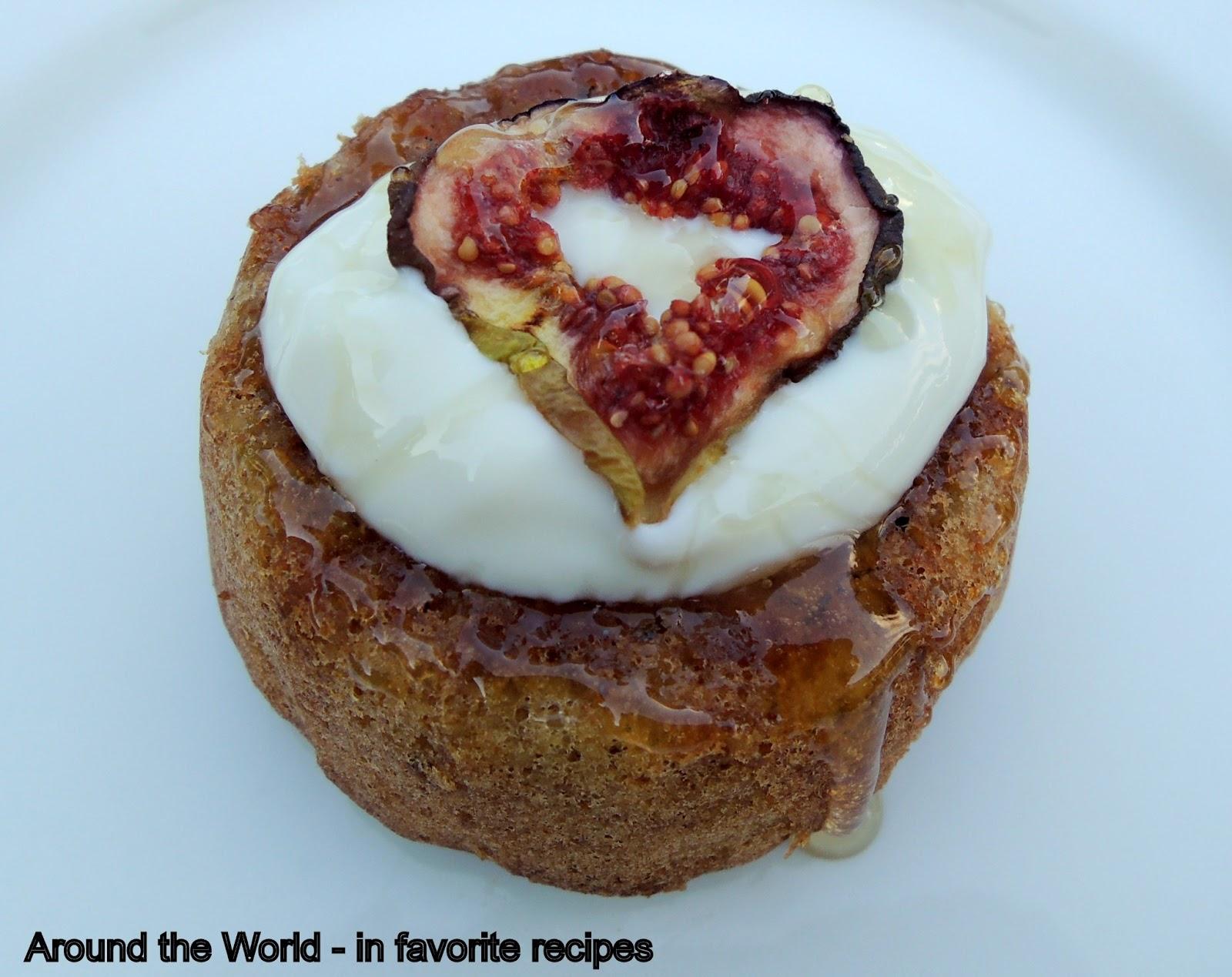 Fig Walnut Greek Yogurt Cake Recipe