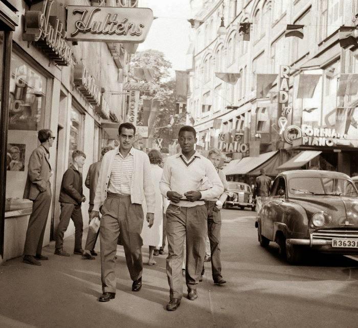 Pelé en Suecia antes de la Copa Mundial de 1958