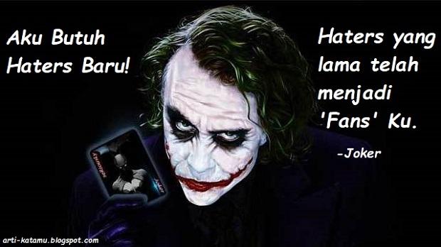 quotes joker bahasa dan teks inggrisnya arti kata