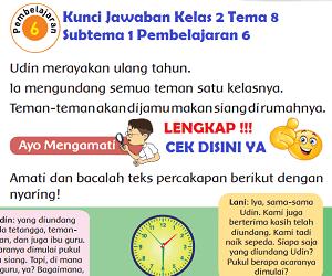 Lengkap Kunci Jawaban Kelas 2 Tema 8 Subtema 1 Pembelajaran 6 Kunci Jawaban Tematik Lengkap Terbaru Simplenews