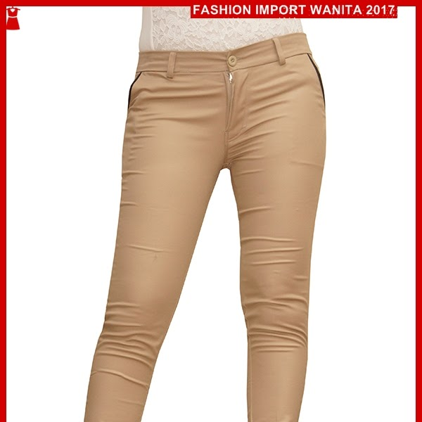 ADR194 Celana Muda Coklat Panjang Chino Import BMG