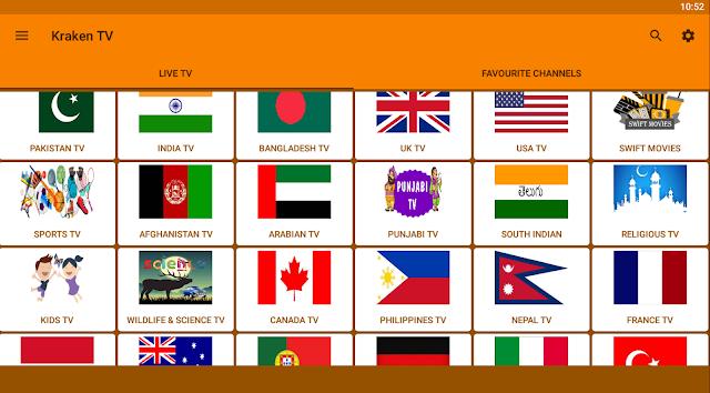 تطبيق Kraken TV  لمشاهدة جميع القنوات العالمية و العربية  بدون اعلانات مزعجة