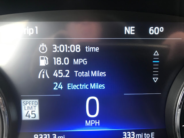 Fuel economy readout in 2020 Ford Explorer Hybrid