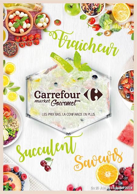 catalogue carrefour market gourmet maroc juin juillet 2019