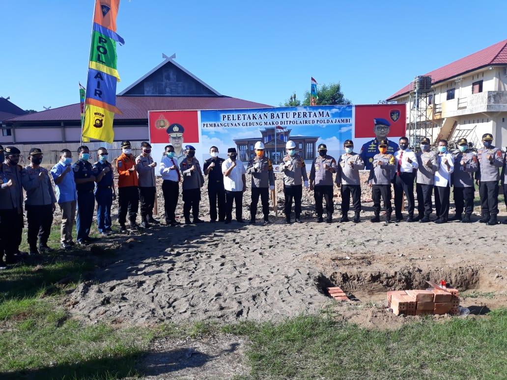 Ini Harapan Kapolda Jambi Dalam Peletakan Batu Pertama pembangunan Gedung Mako Ditpolairud Polda Jambi