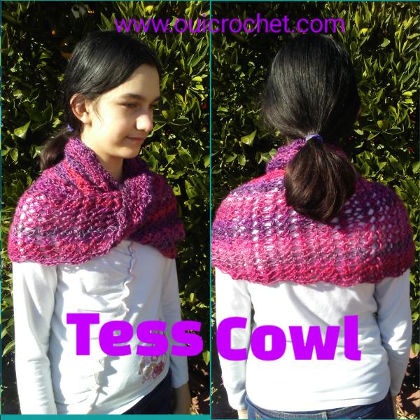 Crochet Cowl, Free Crochet Pattern, Crochet Cowl for Kids, Crochet Infinity Cowl