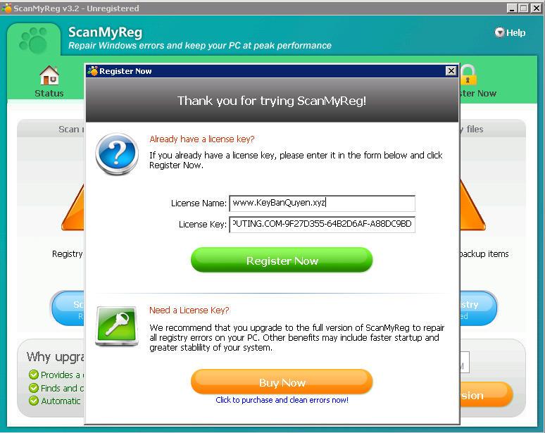 ScanMyReg 3.2 Full Key Download, Phần mềm hỗ trợ bạn dọn dẹp sự cố trong máy tính.