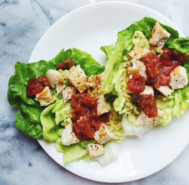 Lettuce Wraps With Chicken Avocado