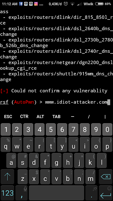 Tutorial exploit router dengan Routersploit di android