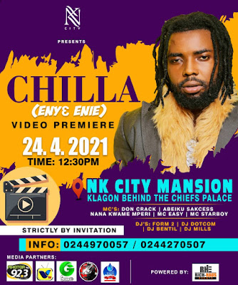 """CHILLA Set To Premiere His Much Anticipated Music Video Dubbed """"Enye Enie"""" At NK City Mansion On The... (Check Date & Watch Teaser)"""