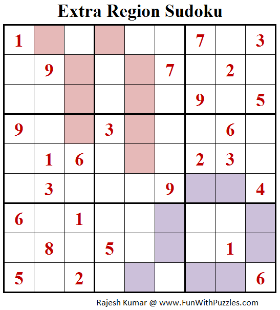 Extra Region Sudoku (Fun With Sudoku #174)