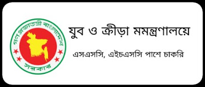 Youth and Sports Ministry, ssc, hsc pass job circular 2019