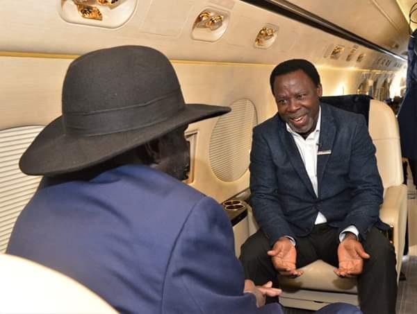 South Sudan President, Salva Kiir & Wife Receive TB Joshua As He Arrives Sudan (Photos)