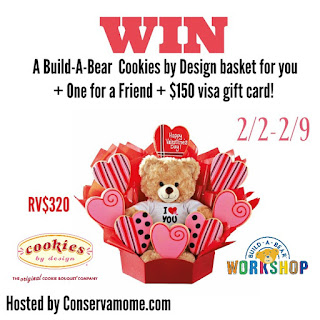 Enter the Build A Bear +Cookies By Design Giveaway. Ends 2/9
