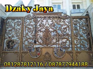 Hasil akhir Projek Pintu Gerbang Besi Tempa Mewah di SURABAYA