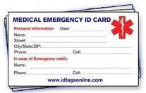 incident alert template - diabetic senior and black diabetic id card