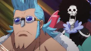 ワンピースアニメ 987話 ワノ国編   ONE PIECE フランキー ブルック
