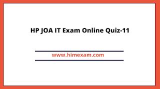 HP JOA IT Exam Online Quiz-11
