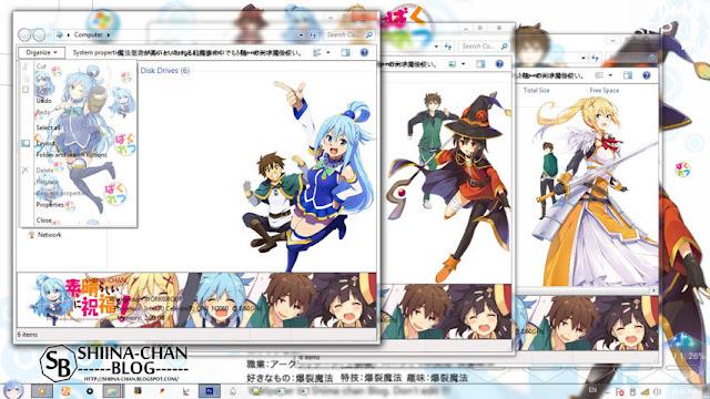 Kono Subarashii Sekai ni Shukufuku wo! Theme Win 7 by Enji Riz Lazuardi