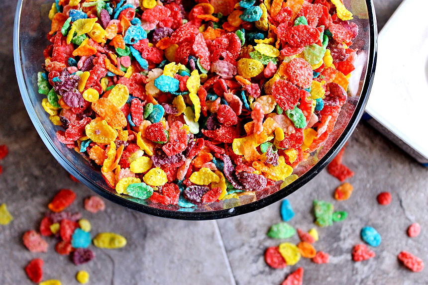 This delicious Fruity Pebbles fudge will have you feeling like a kid again!