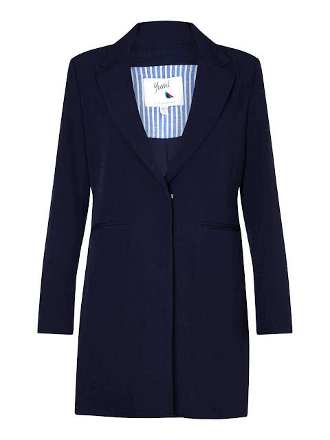Yumi Blazer With Striped Lining
