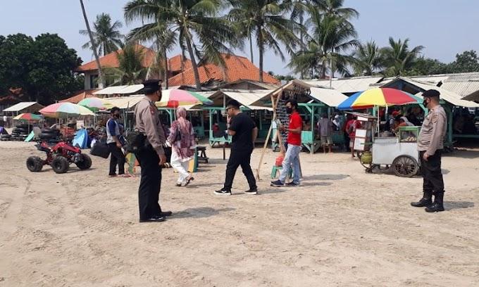 Antaisipasi Guantibmas, Ditpamobvit Polda Banten lakukan Pengamanan di Wilayah Pantai Anyer