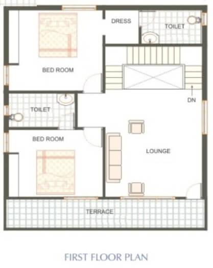 100 Gaj House Map