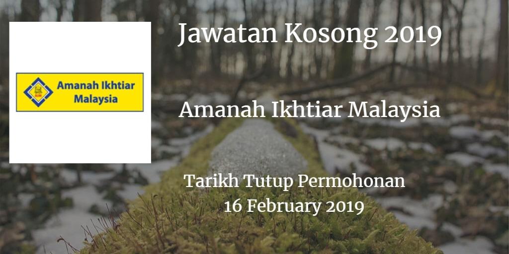 Jawatan Kosong AIM 16 February 2019