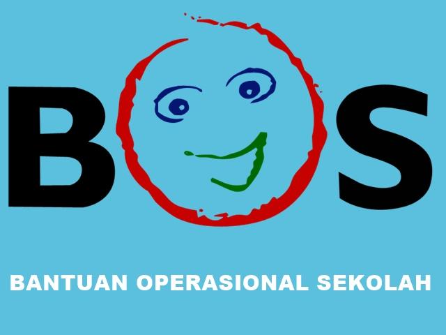 Logo BOS Background Biru Tulisan Putih