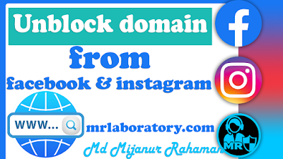 How to unblock website  from facebook & instagram