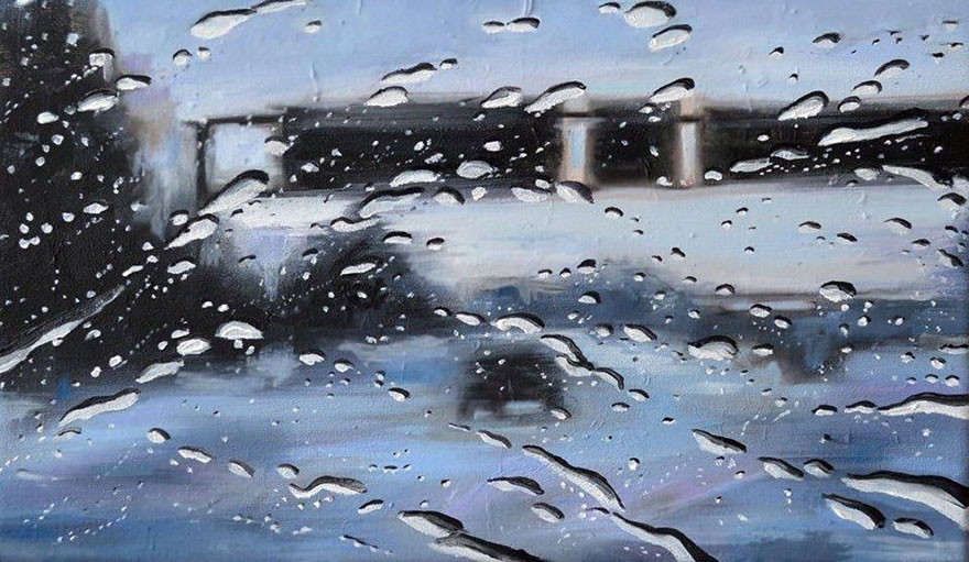 07-Francis-McCrory-Photo-Realistic-Rainy-Windshield-Paintings-www-designstack-co