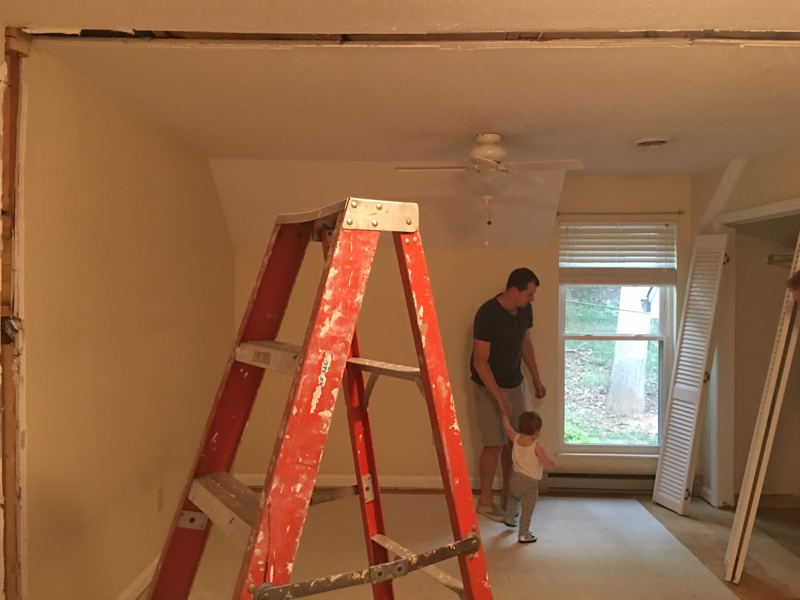 Heres A Pic From When The Hardwood Floors Were Finished No Trim Or Doors Yet And Walls Beige Patchwork Disaster But It Was Getting There