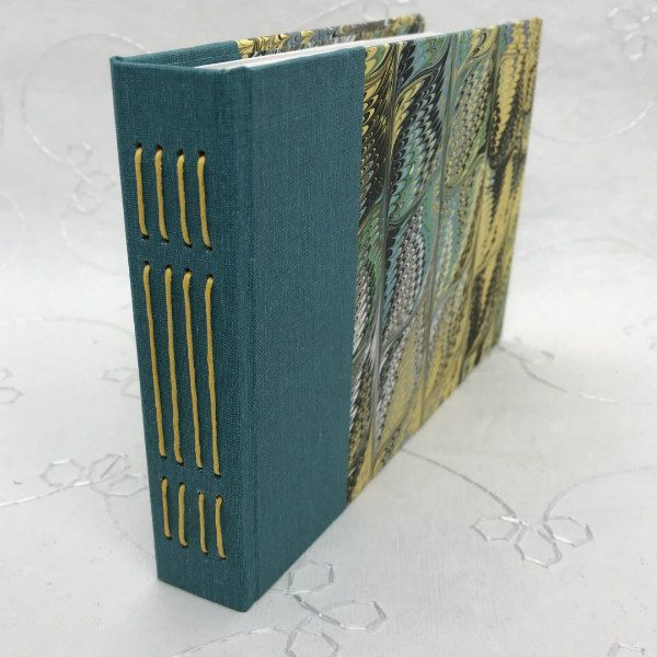 marbled cover handmade book