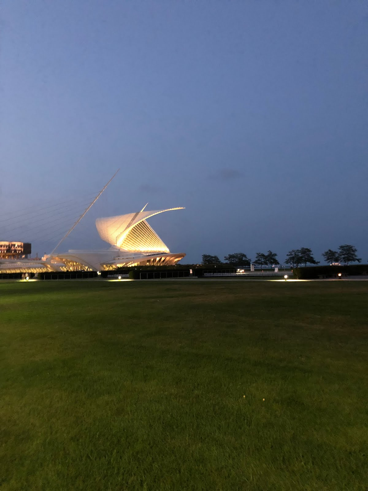 The Calatrava Addition to the Milwaukee Art Museum