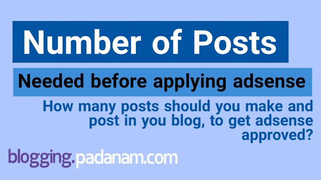 how many posts are needed to get adsense