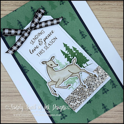 Send holiday happiness with this simple and beautiful Christmas card, featuring the Peaceful Deer bundle!