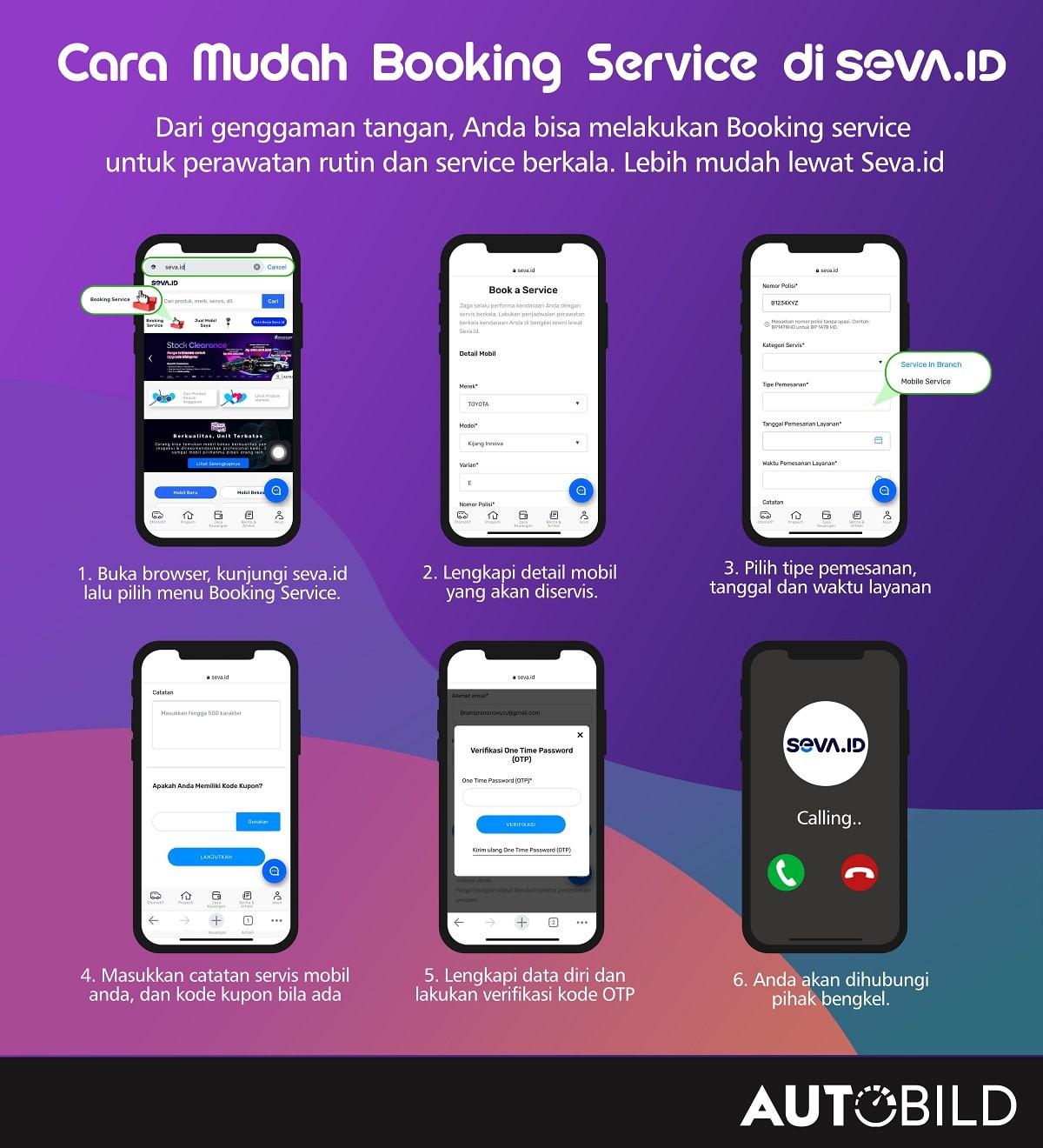 Panduan Booking Service lewat WebApps Seva.id